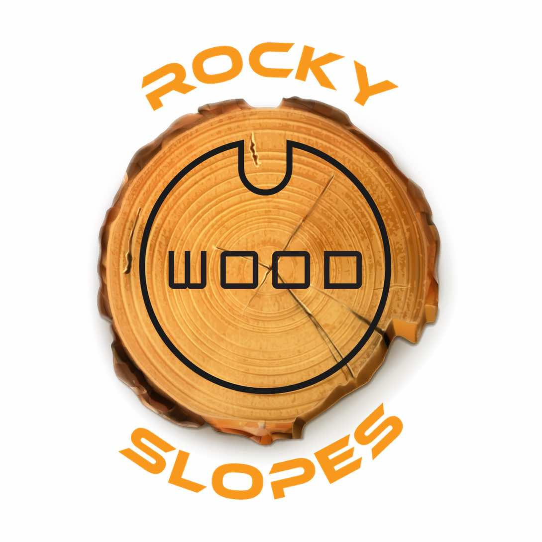 Rocky Slopes Wood Logo